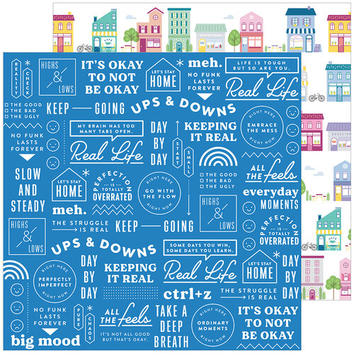 Pinkfresh Studio - Keeping It Real Collection - 12 x 12 Double Sided Paper - Adulting