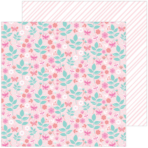 Pinkfresh Studio - Keeping It Real Collection - 12 x 12 Double Sided Paper - Tiny Victories