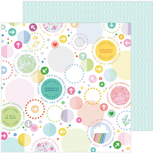 Pinkfresh Studio - Keeping It Real Collection - 12 x 12 Double Sided Paper - A Little Chaos
