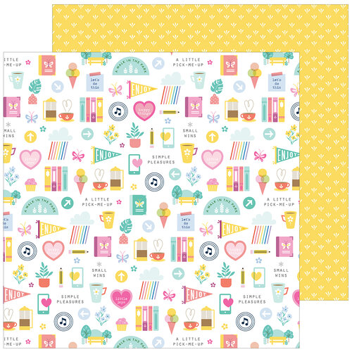 Pinkfresh Studio - Keeping It Real Collection - 12 x 12 Double Sided Paper - Daily Grind