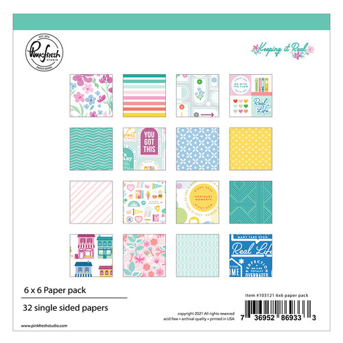 Pinkfresh Studio - Keeping It Real Collection - 6 x 6 Collection Paper Pack