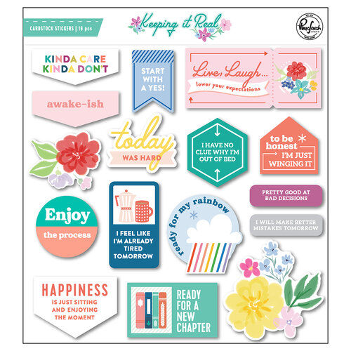 Pinkfresh Studio - Keeping It Real Collection - Chipboard Stickers