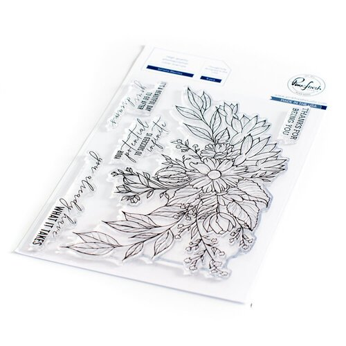 Pinkfresh Studio - Clear Photopolymer Stamps - Infinite Blooms