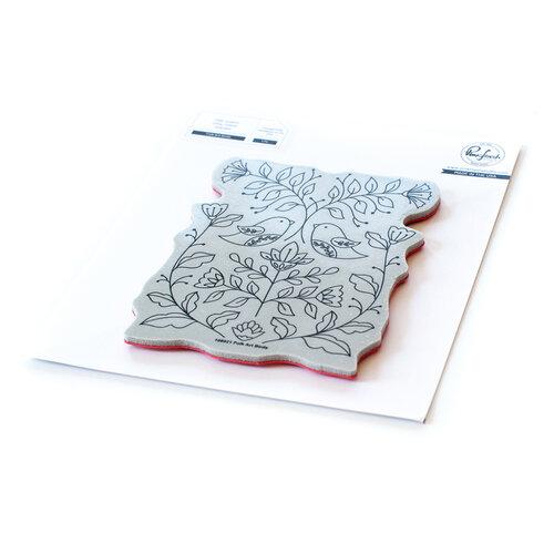 Pinkfresh Studio - Cling Mounted Rubber Stamps - Folk Art Birds