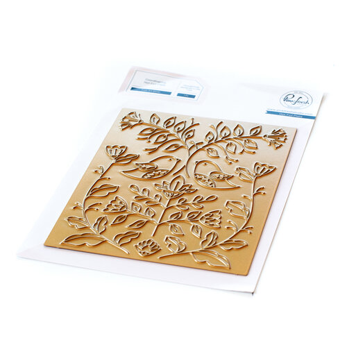 Pinkfresh Studio - Hot Foil Plate - Folk Art Birds