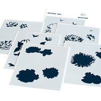 Pinkfresh Studio - Layering Stencils - Flower Garden