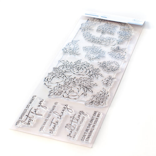 Pinkfresh Studio - Clear Photopolymer Stamps - Painted Peony