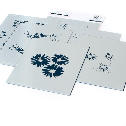 Pinkfresh Studio - Layering Stencils - Floral Bunch