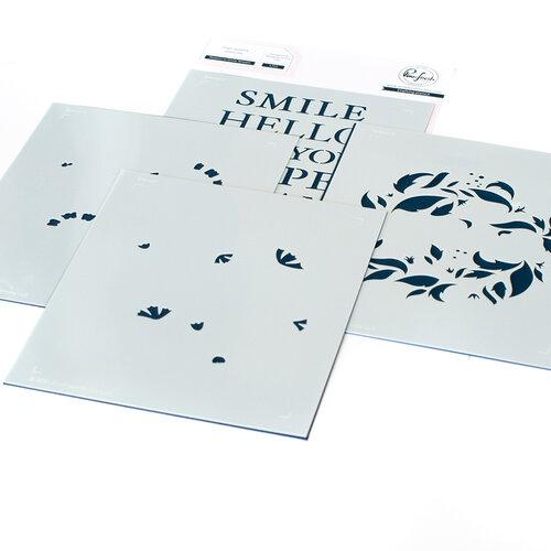 Pinkfresh Studio - Layering Stencils - Reason to Smile Wreath