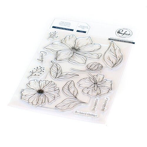 Pinkfresh Studio - Clear Photopolymer Stamps - It's a New Day Floral