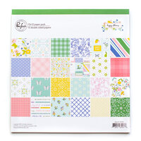 Pinkfresh Studio - Happy Blooms Collection - 12 x 12 Paper Pack