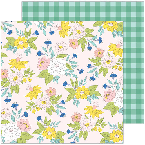 Pinkfresh Studio - Happy Blooms Collection - 12 x 12 Double Sided Paper - Blossom