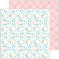 Pinkfresh Studio - Happy Blooms Collection - 12 x 12 Double Sided Paper - Cottage