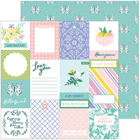 Pinkfresh Studio - Happy Blooms Collection - 12 x 12 Double Sided Paper - Homegrown
