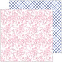 Pinkfresh Studio - Happy Blooms Collection - 12 x 12 Double Sided Paper - Embroidered