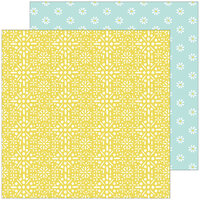 Pinkfresh Studio - Happy Blooms Collection - 12 x 12 Double Sided Paper - Memories