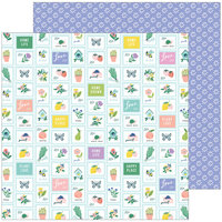 Pinkfresh Studio - Happy Blooms Collection - 12 x 12 Double Sided Paper - Garden