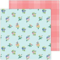 Pinkfresh Studio - Happy Blooms Collection - 12 x 12 Double Sided Paper - Flower Patch
