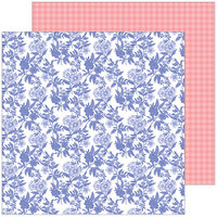 Pinkfresh Studio - Happy Blooms Collection - 12 x 12 Double Sided Paper - Daydream