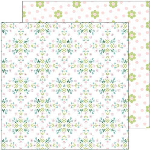Pinkfresh Studio - Happy Blooms Collection - 12 x 12 Double Sided Paper - Together