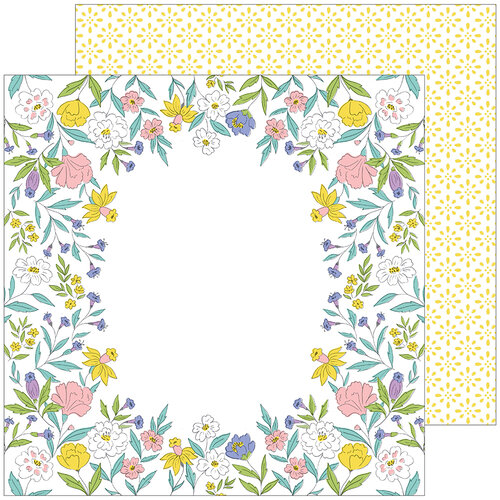 Pinkfresh Studio - Happy Blooms Collection - 12 x 12 Double Sided Paper - Heirloom