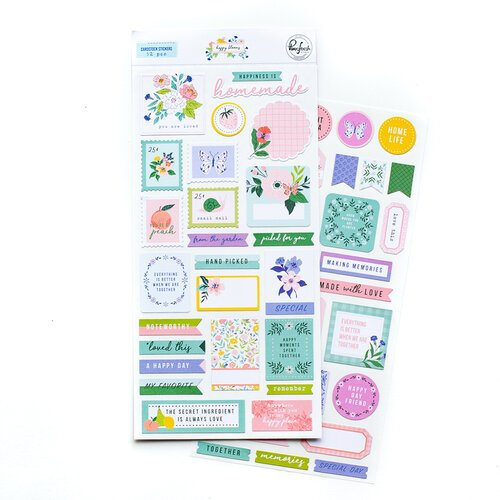 Pinkfresh Studio - Happy Blooms Collection - Cardstock Stickers
