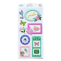 Pinkfresh Studio - Happy Blooms Collection - Stickers - Puffy Frames
