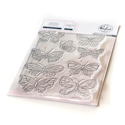 Pinkfresh Studio - Clear Photopolymer Stamps - Small Butterflies
