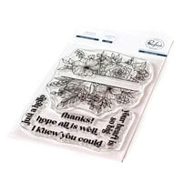 Pinkfresh Studio - Clear Photopolymer Stamps - Just a Hello Floral