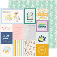 Pinkfresh Studio - The Best Day Collection - 12 x 12 Double Sided Paper - Remember This Day