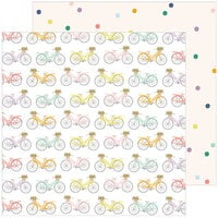 Pinkfresh Studio - The Best Day Collection - 12 x 12 Double Sided Paper - Life's a Ride