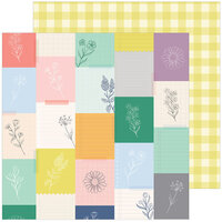Pinkfresh Studio - The Best Day Collection - 12 x 12 Double Sided Paper - Harvest Market