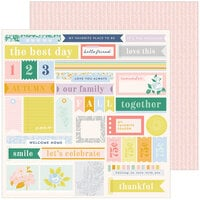 Pinkfresh Studio - The Best Day Collection - 12 x 12 Double Sided Paper - Together is My Fave