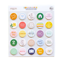 Pinkfresh Studio - The Best Day Collection - Embellishments - Flair Chipboard Pieces