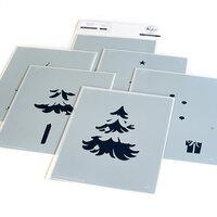 Pinkfresh Studio - Layering Stencils - Under the Christmas Tree