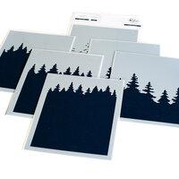 Pinkfresh Studio - Christmas - Layering Stencils - Wintry Forest