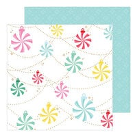 Pinkfresh Studio - Holiday Magic Collection - Christmas - 12 x 12 Double Sided Paper - Holiday Vibes