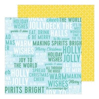 Pinkfresh Studio - Holiday Magic Collection - Christmas - 12 x 12 Double Sided Paper - Warm Wishes