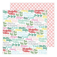 Pinkfresh Studio - Holiday Magic Collection - Christmas - 12 x 12 Double Sided Paper - Holly Jolly