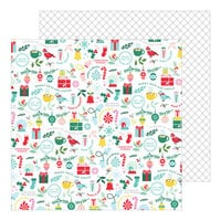 Pinkfresh Studio - Holiday Magic Collection - Christmas - 12 x 12 Double Sided Paper - Merry and Bright