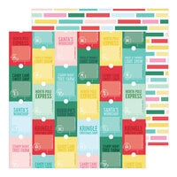 Pinkfresh Studio - Holiday Magic Collection - Christmas - 12 x 12 Double Sided Paper - Santa's Workshop