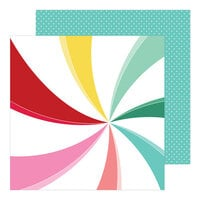 Pinkfresh Studio - Holiday Magic Collection - Christmas - 12 x 12 Double Sided Paper - Candy Cane