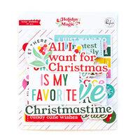 Pinkfresh Studio - Holiday Magic Collection - Christmas - Ephemera Pack - Titles
