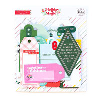 Pinkfresh Studio - Holiday Magic Collection - Christmas - Ephemera Pack - Die Cut Tags