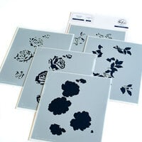 Pinkfresh Studio - Layering Stencils - Garden Roses
