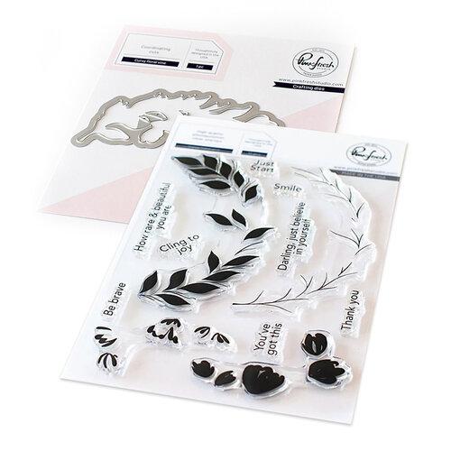 Pinkfresh Studio - Dies and Clear Photopolymer Stamps - Curvy Floral Vine Bundle