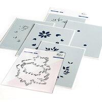Pinkfresh Studio - Layering Stencils and Die Set - Daisy Wreath Bundle