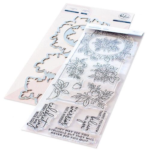 Pinkfresh Studio - Clear Photopolymer Stamps and Die Set - English Garden Bundle