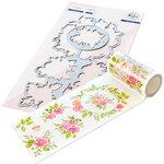 Pinkfresh Studio - Washi Tape and Die Set - English Garden Bundle