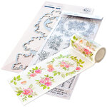 Pinkfresh Studio - Clear Photopolymer Stamps, Washi Tape and Die Set - English Garden Complete Bundle
